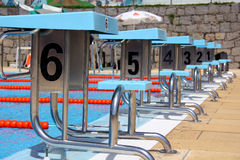 Diving boards Stock Image
