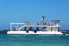 Diving boat in Punta Cana, Dominican Republic Royalty Free Stock Photo