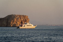 Diving boat in the red sea. Egypte, Ras mohammed, Sinai Stock Photo