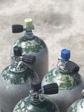 Diving bottles Stock Photos