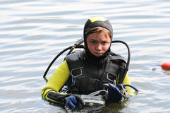 Diving boy Stock Photos