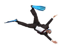 Diving into business Royalty Free Stock Image