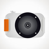 Diving camera. For scuba diving. vector format Royalty Free Stock Images