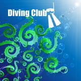 Diving club. stock illustration