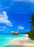 Diving club on a tropical island. Travel background Royalty Free Stock Photography