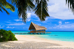 Diving club on a tropical island Stock Photo