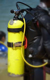 Diving cylinder Royalty Free Stock Image