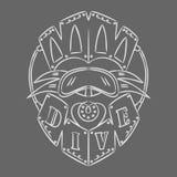 Diving emblem. Stock Photography