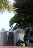 Diving Equipment. Assorted scuba or diving equipment royalty free stock photo