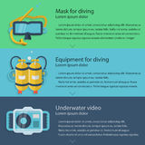 Diving equipment colored illustration Royalty Free Stock Images