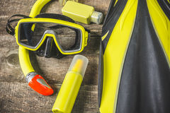 Diving equipment Royalty Free Stock Photos