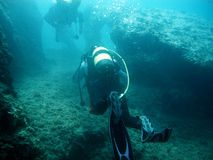 Diving exploration Royalty Free Stock Images