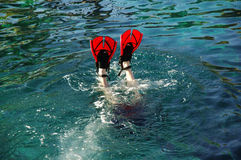 Diving feet Royalty Free Stock Image