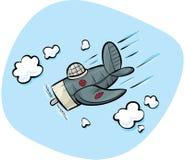 Diving Fighter Plane royalty free illustration
