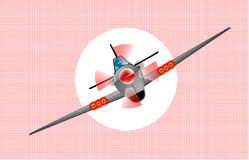 Diving Fighter Plane Royalty Free Stock Image