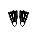 Diving fins isolated. Icon  illustration graphic design Royalty Free Stock Photo