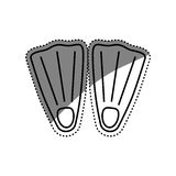 Diving fins isolated. Icon  illustration graphic design Royalty Free Stock Images