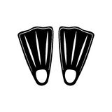 Diving fins isolated. Icon  illustration graphic design Stock Image