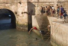 Diving for fun Royalty Free Stock Photos