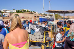 Diving gear being loaded at a beach resort Stock Image