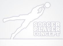 Diving Goal Keeper Silhouette Soccer Player Stock Photography