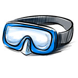 Diving goggles mask fast sketch Royalty Free Stock Photos