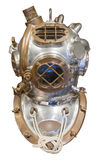 Diving helmet. In brass and steel for deep sea diving, isolated with clipping path Stock Images