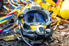 Diving helmet Royalty Free Stock Photos