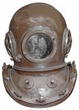 Diving helmet. Old diving helmet isolated on white background Royalty Free Stock Photos