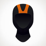 Diving helmet. Orange and black color. vector format Stock Photography