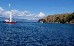 Diving at Honolua Bay Stock Image