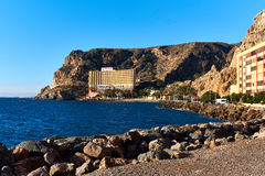 Diving hotel at the almeria coast at winter. Stock Photography
