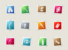 Diving icon set Stock Images