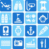 Diving icons Stock Photos