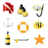 Diving Icons Stock Images