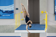 Diving Italian indoor championships Royalty Free Stock Image