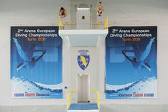 Diving Italian indoor championships Royalty Free Stock Photos