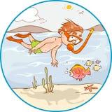 Diving Kid. Vector illustration of a Diving Kid vector illustration