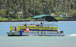 Diving lessons pontoon boat Royalty Free Stock Photography