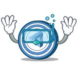 Diving MaidSafeCoin character cartoon style. Vector illustration Royalty Free Stock Photography