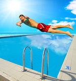 Diving man Royalty Free Stock Image