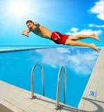 Diving man royalty free stock image