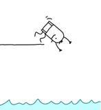 Diving man vector illustration