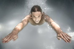 Diving man Stock Photography