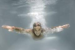 Diving man Royalty Free Stock Photo
