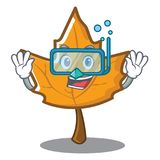Diving maple character cartoon style. Vector illustration Royalty Free Stock Images