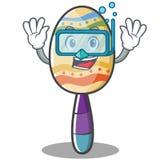 Diving maracas character cartoon style Stock Photography