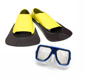 Diving Mask And Flippers Stock Images