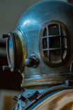 Profile of an old diving mask. royalty free stock photos