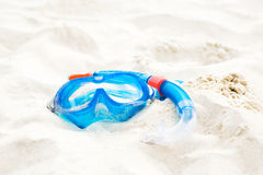 Diving mask in sand Stock Photography